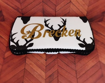 Custom home decor wedding baby gifts all handmade usa by ajobebe deer wipes case antlet diaper deer diaper bag gold baby gift gold baby shower gift personalized negle Gallery