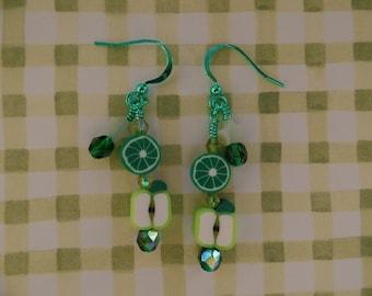 Little Green Apple Earrings