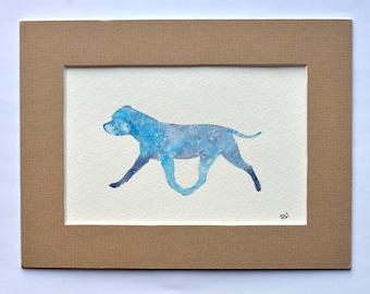 Staffordshire Bull Terrier - Trotting Silhouette