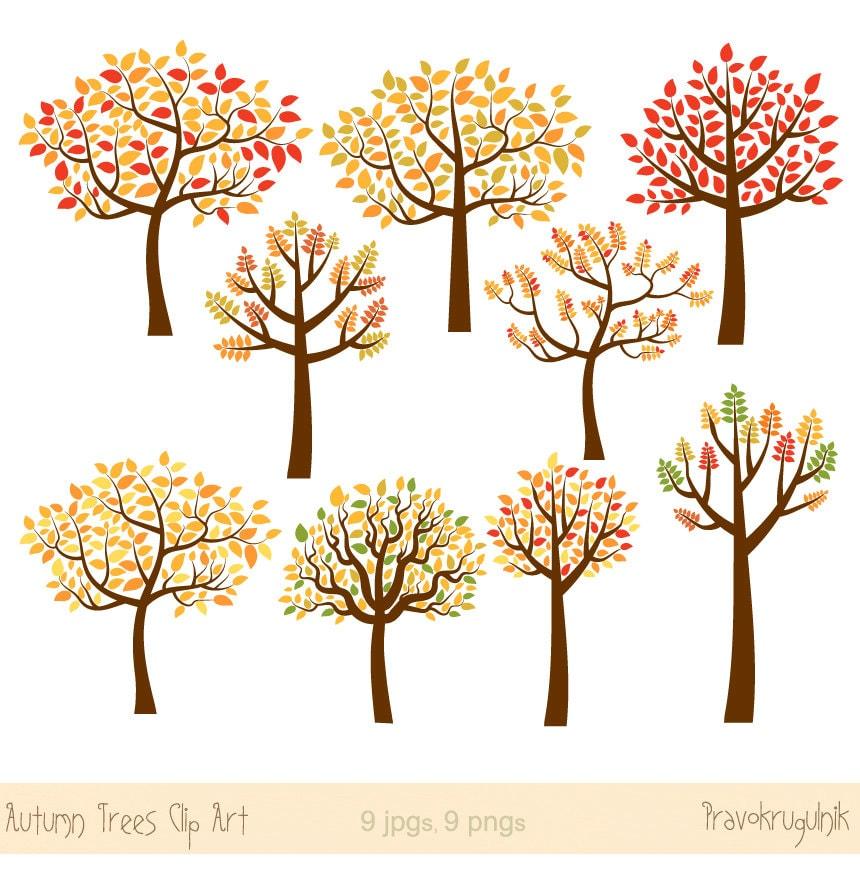 autumn tree clipart fall tree clip art fall season clipart rh etsy com autumn apple tree clipart autumn tree clipart free