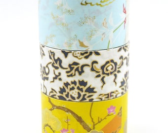 Oriental Painting 02 - Japanese Washi Masking Tape Set - 3 rolls - 25mm wide - 5.5 yard - no discount