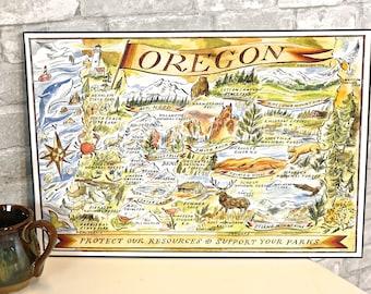 Oregon Map Print