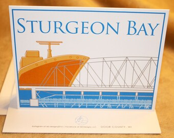 Sturgeon Bay Blank Note Card