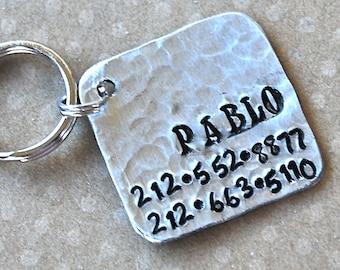 Pet id tag Pablo Square NEW FONT Wackadoodle