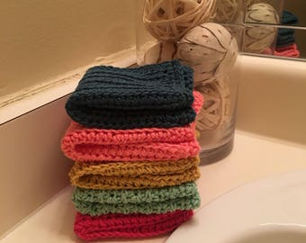 Handmade Dish Cloths | Wash Cloths | Sets of 1, 3, or 5 |