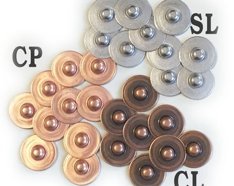 Jeans Rivet 3-colors plated 8mm stud[Set of 40]