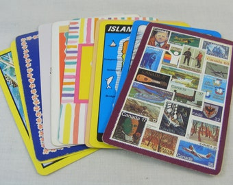 Vintage Playing Cards / Swap Cards - Mixed Set of 10 for Trading, Art, Collecting (Set #1)