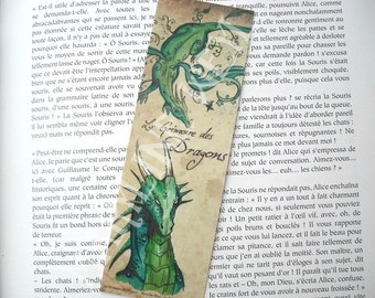 Bookmark green dragon