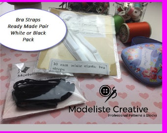 Bra Straps- Bra Making Supplies- 10 mm wide - Black or White - Ideal For Lingerie Making!