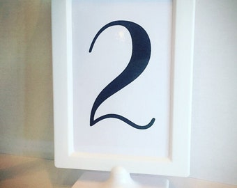 Double Sided Pedestal Frame | Wedding Table Numbers | Candy Bar Sign | Candy Table Sign | Birthday Party | Graduation | Baby Shower
