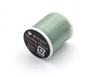Spool of thread Miyuki 100% nylon green seafoam sea