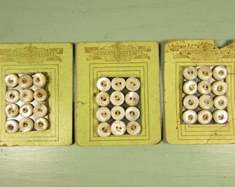 MOP Sewing Buttons - Vintage French on Original Sales Card