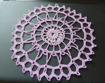 Wheel doily in lavender