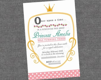 PRINTABLE Invitation - Little Princess