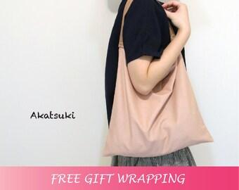 Large linen bag, leather handle bag, tote bag, cotton bag, shopping bag, grocery bag, beach bag, shoulder bag