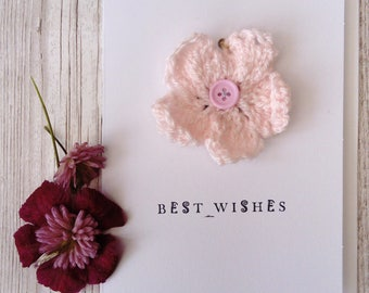 flower card, flower keepsake card, flower birthday card,  card for mum, card for gardener, card for nan, card for sister, thank you card