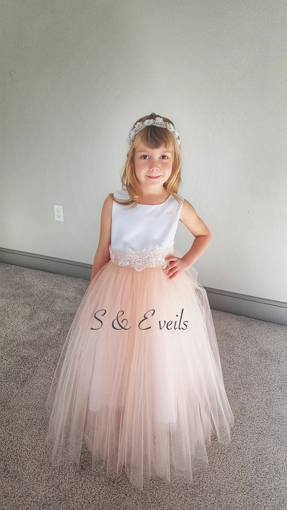 Flower girl Tutu OverSkirt | wedding, accessories