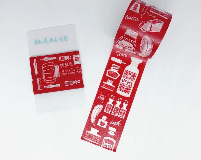 Sample Washi tape hoppy mini Box ink Red