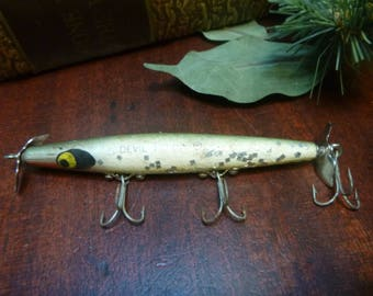 """Wooden Smithwick Devils Horse Fishing Lure 4""""   (T)"""