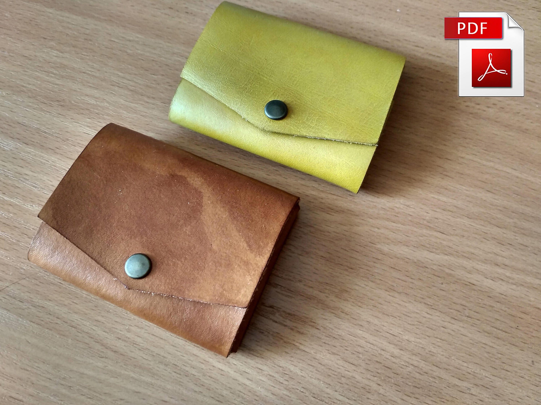 Minimalist wallet pattern Leather pattern Minimalist pattern