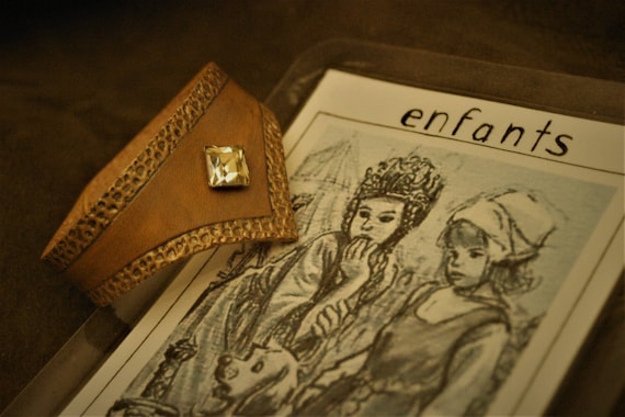 Medieval leather girl bracelet