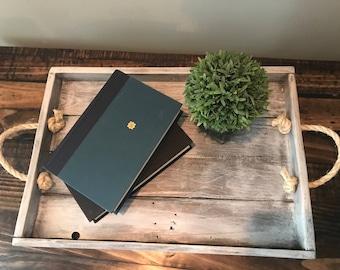 Reclaimed wood breakfast tray