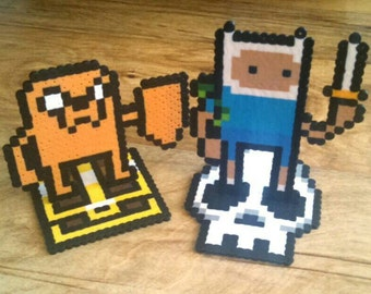 Finn the Human and Jake the Dog Stand-Up Perlers