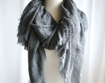 Large shawl scarf - organic cotton gauze