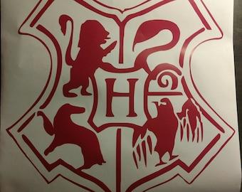 Harry Potter Hogwarts Crest Sticker/Decal