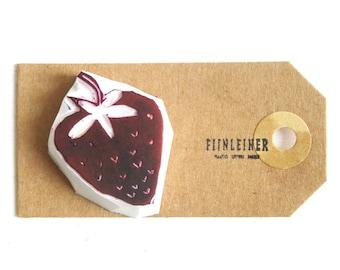 Handcarved stamp Strawberry