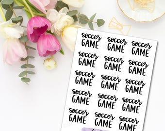 Soccer & Softball Lettering Planner Stickers - Mini Sheet