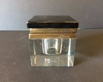 Antique Inkwell, Vintage Inkwell, Crystal Inkwell, Handmade Inkwell, Collector's Item - 1900