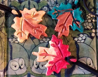 Maple leaf, autumn necklace
