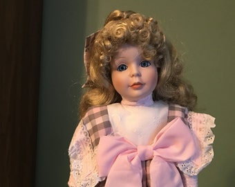 """Porcelain Doll, Dynasty Collection, 18"""""""