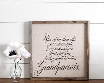 Grandparents  // 17x17 Handmade Sign