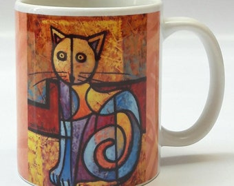 Color Cat Mug by Dennis Esteves Artist, Atelier D. Estever