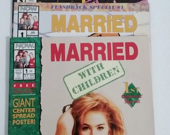 Comic Books- Married with Children, Set of 3 with Christina Applegate Centerfold Poster