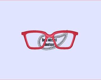 Glasses embroidery design