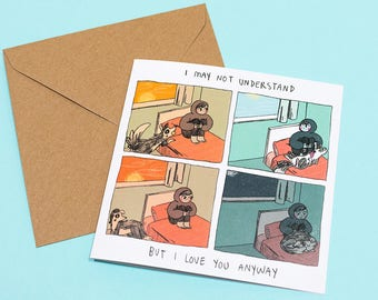 I Love You Anyway Greetings Card - 14.8 x 14.8 cm