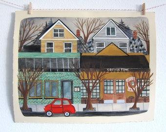 Art - Original Illustration - Portland Art - Portland Illustration - Painting - Original Painting - Portland Painting - Northwest 21st