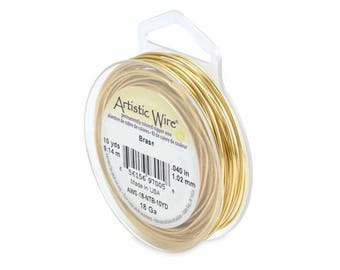 Non Tarnish Brass Artistic Wire – ROUND – Permanently colored - You Pick Gauge 18, 20, – 100% Guarantee