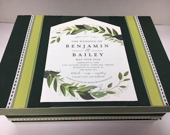 Mariage Invitation souvenir souvenir boîte-Custom Made