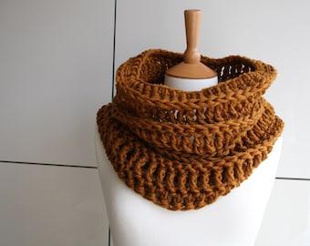 CROCHET PATTERN, Crochet scarf pattern, women men lace cowl pattern, scarf crochet pattern, crochet cowl pattern (239) Instant Download