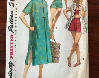 Vintage Simplicity Pattern - Two Piece Playsuit and Coat in Two Lengths