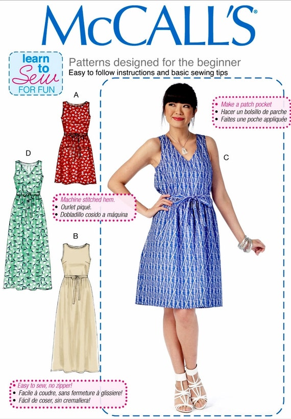 Easy Pullover Dress Pattern A Learn to Sew Dress Pattern