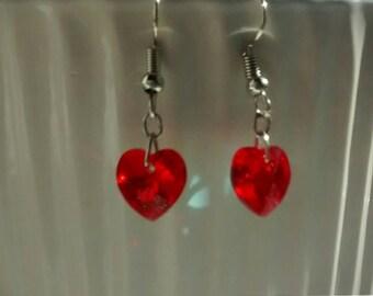 Lovely Swarovski Heart Earrings