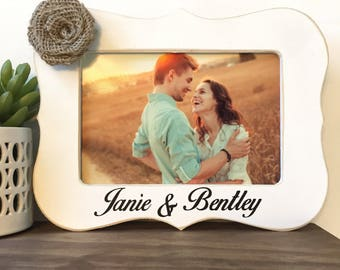 Personalized Couple Names Picture Frame Gift // Wedding // Engaged // Anniversary Gift // Christmas