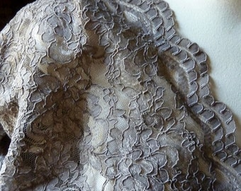 SAMPLE Mocha Mink Lace Alencon for Bridal, Clutches, Skirts, Costumes