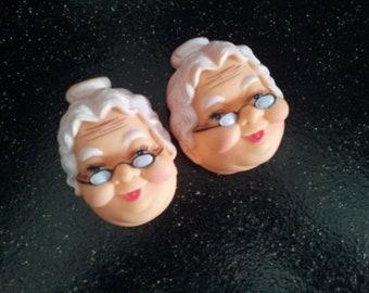 Vintage Granny  Doll Head