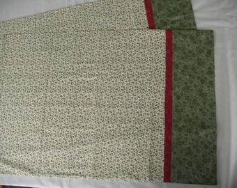 Pillowcases set.  Standard size//Handmade-Strawberries